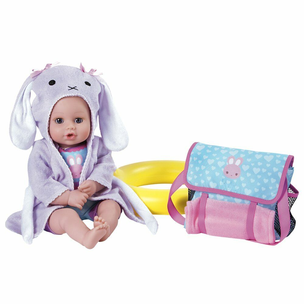 """NEW Adora Bath Time Babies 13"""" Washable Play Doll 7pc Gift S"""