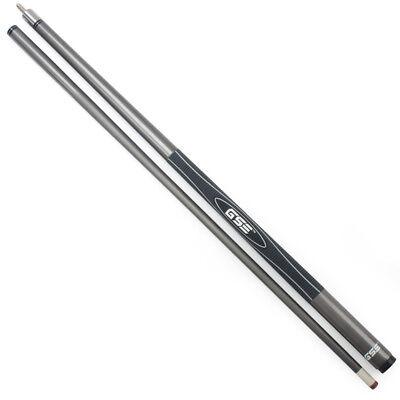 "58"" 2-Piece Fiberglass Graphite Composite Billiard Pool Cue Sticks(Gray,18-21oz)"
