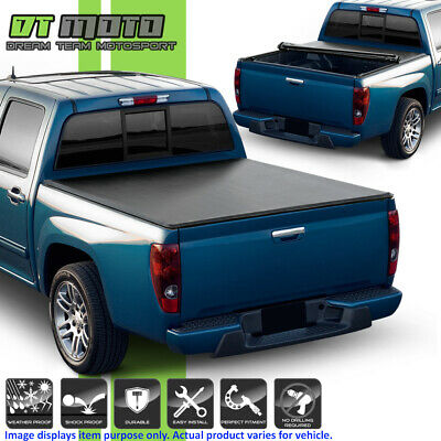 Soft Roll Up Tonneau Cover For 2004-2012 Chevy Colorado GMC Canyon 5Ft Short Bed