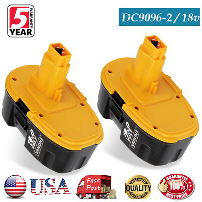 2X 18V 18 VOLT DC9096-2 XRP BATTERY FOR DEWALT DC9096 DW9095 DW9096 DW9099 Drill