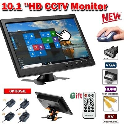 "10.1"" Monitor Screen  TFT LCD CCTV HDMI/BNC/AVI/VGA for Car/Security/PC/Laptop"