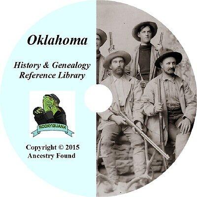 86 old books - OKLAHOMA - History & Genealogy - Ancestry, Family Tree -DVD