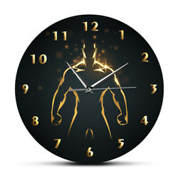 Strength Training Time Clock Sport Art GYM Wall Watch Fitness Body Building Man