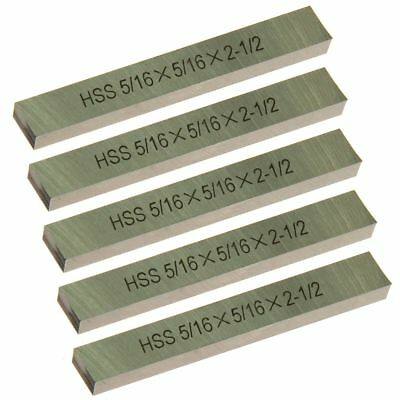 5 Pc Hss Square Tool Bit High Speed Steel M2 516 X 2-12 For Lathe Fly Cutter