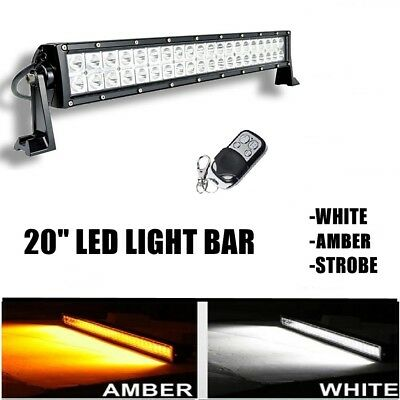 20  120W Led Light Bar Roof Top Emergency Beacon Warning Flash Strobe Amber