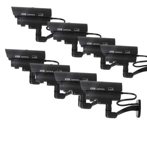10 Outdoor Dummy Security Camera Fake Flashing Ir Led Bul...