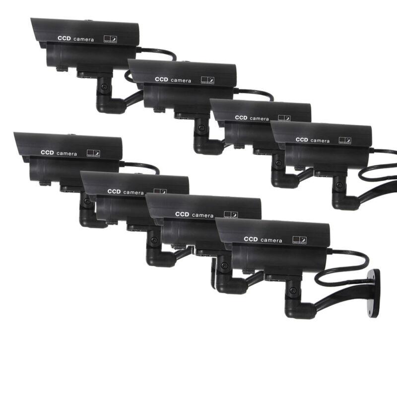 8X Outdoor Dummy Security Camera Fake Flashing Infrared Bullet CCTV Surveillance