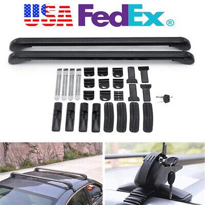 2Pcs Car Roof Rack Luggage Carrier Cross Bar Kit Aluminium Alloy Universal USA