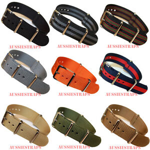 PREMIUM-NATO-G10-Military-Divers-Watch-Strap-Band-NYLON-4-Ring-6x-spring-bars