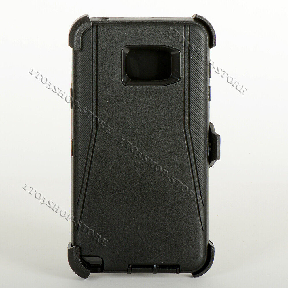 various colors 1ef18 414e9 Details about Samsung Galaxy Note 5 Defender Shockproof Hard Case w/Holster  Belt Clip Black