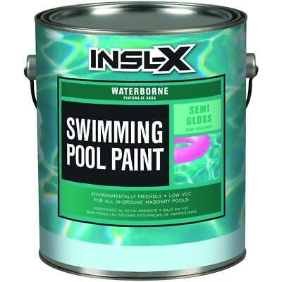 1 gal. semi-gloss water ocean blue swimming pool paint | waterproof gallon mold