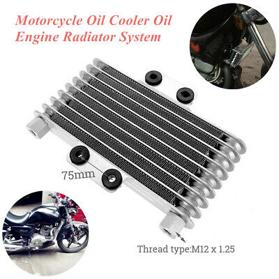 Aluminum Motorcycle Oil Cooler Oil Engine Radiator Fit for 125CC-250CC Dirt Bike