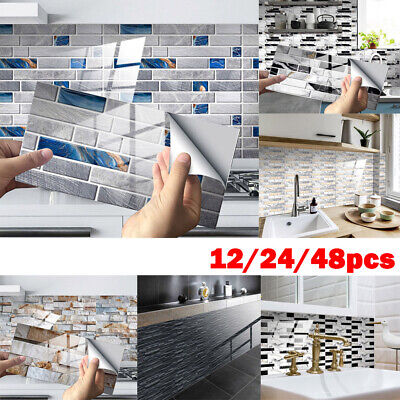 Home Decoration - Home 20x10cm Self-Adhesive Tile Wall Sticker Art Decals Kitchen Bathroom Decor
