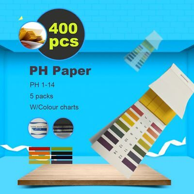 400pcs Strips Ph Indicator 1-14 Test Litmus Paper Tester Urine Saliva Aquarium