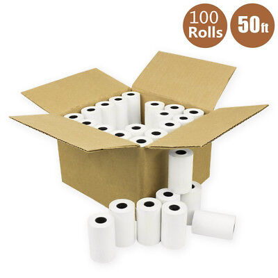 100 Roll 2 14 X 50 Thermal Credit Card Cash Register Pos Case Receipt Paper