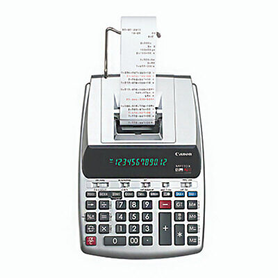 Canon MP11DX-2 Desktop Printing Calculator with Currency, Clock and Calendar