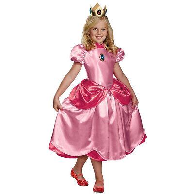 Princess Peach Baby Costume (Princess Peach Costume Dress Girls Child Kids Super Mario)