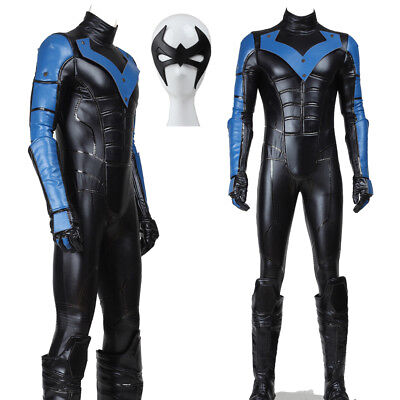 Batman Young Justice Nightwing Costume Full Set Men's Halloween Cosplay Costume