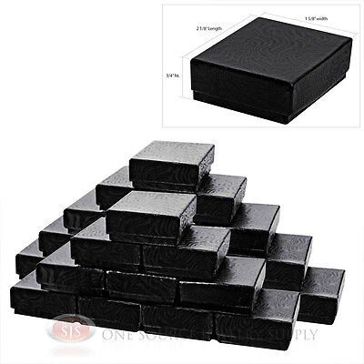25 Black Swirl 2 18 X 1 58 Jewelry Cotton Filled Gift Boxes Charm Ring Box