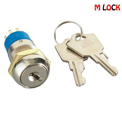 Electronic Key Switch Lock Flat Key 4 Disc Tumbler Multi Positions 7510