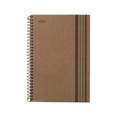 Staples Sustainable Earth 1-subject Wirebound Notebook Brown 8-12x11 Each