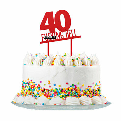 40th Birthday Cake Topper Party Decorations 40 Today For Men & Women 3mm - Mens 40th Birthday Decorations