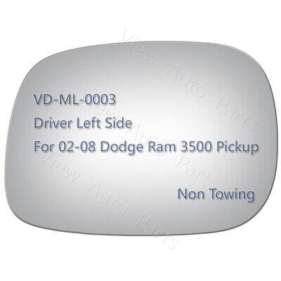 Mirror Glass for 02-08 Dodge Ram 3500 Pickup Truck Driver Left Side LH #2932