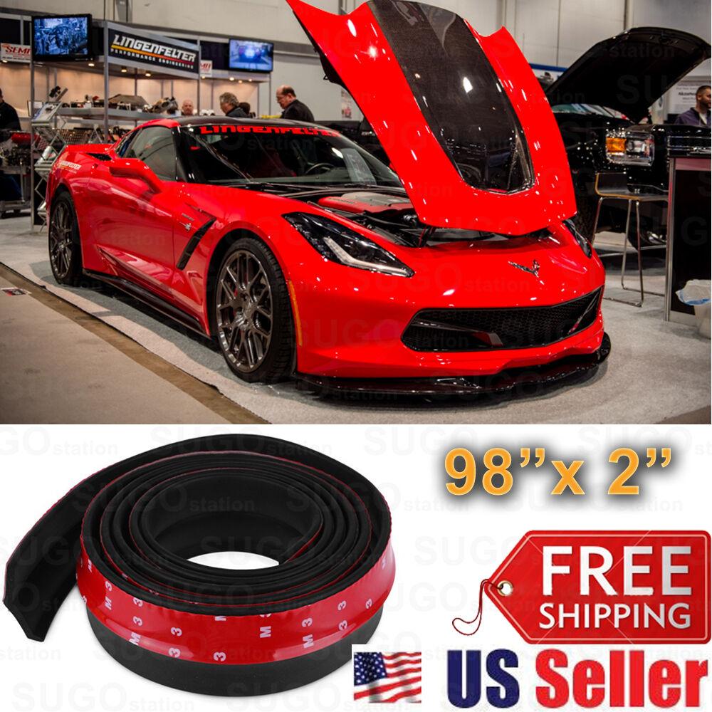 Universal Black PU Front Bumper Body Spoiler Lip Splitter Diffuser Lip