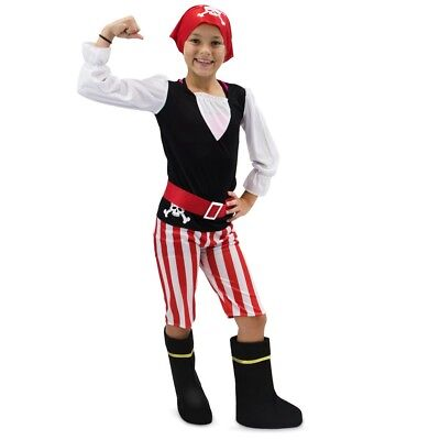 PIRATE COSTUME Kids for Halloween, Age 10-12 Black & Red. Boo! ](Black Halloween Costumes For Kids)