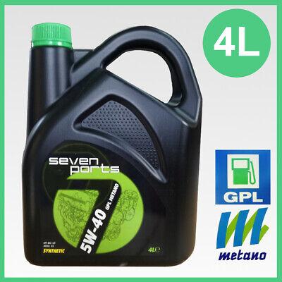 Olio motore 5w40 Gpl Gas Metano sintetico acea C3 multiair multipower 4 litri