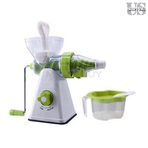Healthy Hand Manual Fruit Juicer Vegetables Wheatgrass Juicer Suction Base