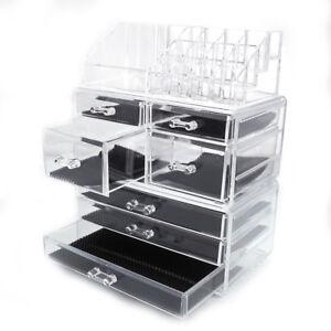 Large Cosmetic Makeup Case Lipstick Jewelry Holder Storage Organizer w/7 Drawer