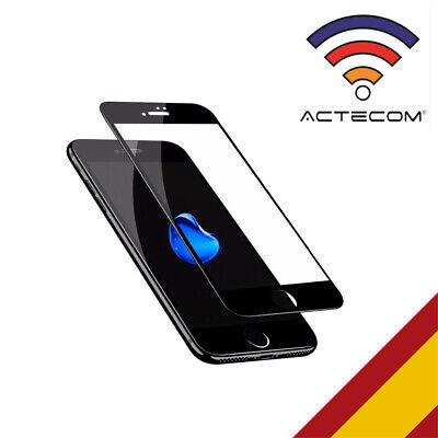 ACTECOM® PROTECTOR PANTALLA COMPLETA 3D 5D NEGRO CRISTAL TEMPLADO IPHONE 6 PLUS