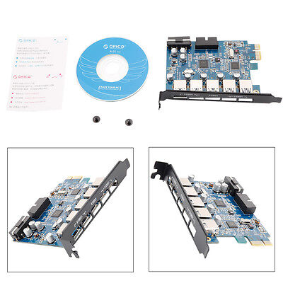 ORICO PCI-E Super Speed USB 3.0 5 Ports Expansion Card Adapter for Windows New