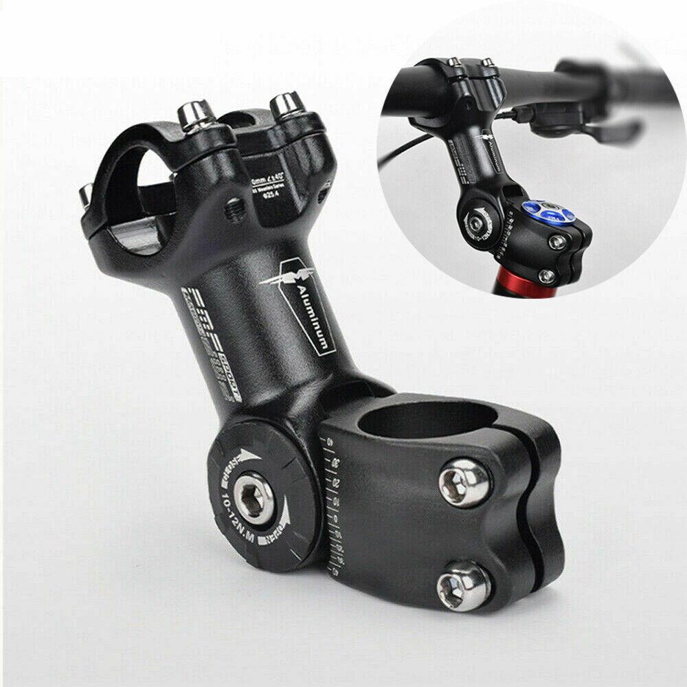 MTB Mountain Aluminum Bike Stem Riser Adjustable Angle Bicycle Riser 25.4mm//1/'/'