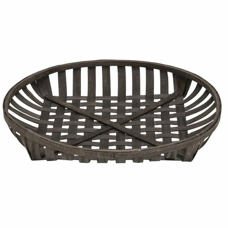 "Expressly HUBERT Round Chip Wood Tobacco Basket - 30""Dia x 4""H"