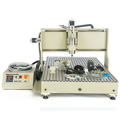 4-axis Cnc6090 Router Milling Engraving Machine Water Cooling Engraver 2200w Usb