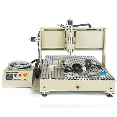 4axis Cnc 6090gz 3d Router Desktop Engraver Engraving Carve Machine 2200w Usb Us