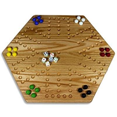 """Board Games Solid Oak Double-sided Aggravation (Wahoo) Set, 20"""" Wide for sale  Shipping to Canada"""