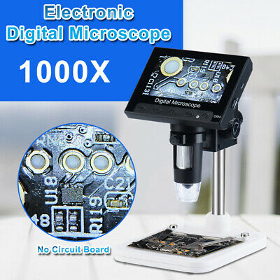 Adjustable 4.3 1000x Hd Lcd Monitor Electronic Digital Microscope Led Magnifier