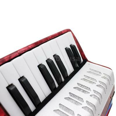 Mini Small 17-Key 8 Bass Accordion Musical Toy for Kids Beginner Red S4V9