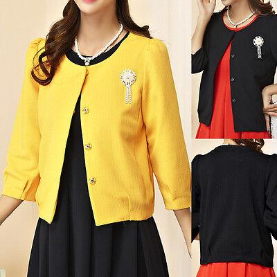 Womens Ladies Top Blouse Cardigan Dress Jacket Coat AU Size 10 12 14 16 18 #3499 Womens Top Coat