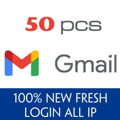 50 New Gmail Google Accounts - Verified and Guarantee - New Fresh - Fast