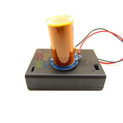 Mini Tesla Coil No Arc Dc 4.5v Space Lighting For Experiments Course Design Diy