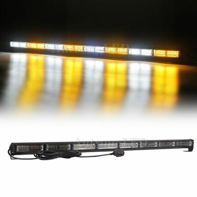 35 48w 96 Led Traffic Advisor Emergency Warn Strobe Stick Light Bar Amber White