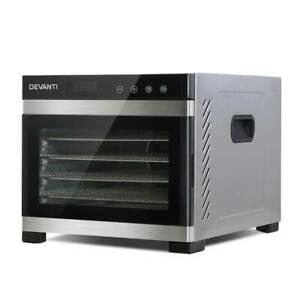 DEVANTi 6 Trays Commercial Food Dehydrator Stainless Steel Fruit Brisbane City Brisbane North West Preview