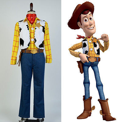 Disney Mascot Toy Story Sheriff Woody Cosplay Costume Outfit Cowboy Uniform Suit - Cowboy Mascot Costume