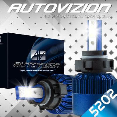 5202 2504 LED Headlight Bulbs Kit 6000K White Fog Light All in One 388W 38800LM