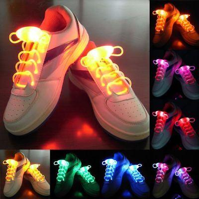 2pcs/lot Shoe Luminous Shoestring Up Shoelace Stick Shoelaces Light LED Flash