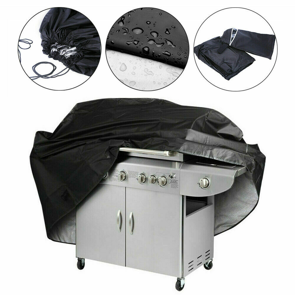 BBQ Grill Cover Gas Barbecue Heavy Duty Waterproof Protector Outdoor Black Cover